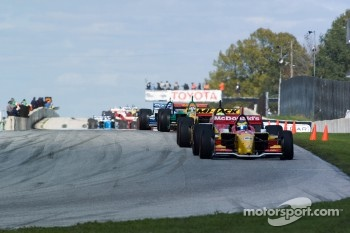 Sébastien Bourdais on a pace lap