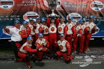 Champ Car World Series 2006 champion Sébastien Bourdais celebrates his third consecutive title with this team