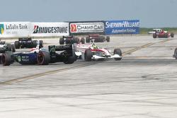 Bruno Junqueira spins in corner 1