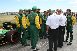Team Australia team members on the grid