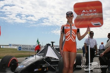 The grid girl of Alex Figge