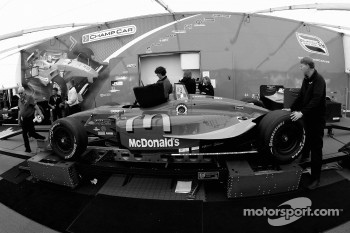 Sébastien Bourdais' car at tech inspection
