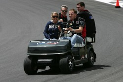 Robert Doornbos drides around the track
