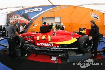 Sbastien Bourdais' car at tech inspection