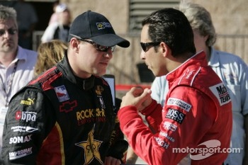 Tomas Enge and Helio Castroneves