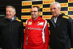 Stefano Domenicali, Scuderia Ferrari Sporting Director and Marco Tronchetti Provera, president of Pirelli
