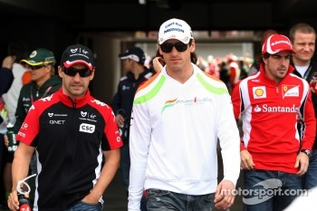 Timo Glock, Marussia Virgin Racing, Adrian Sutil, Force India F1 Team
