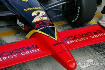 Nose cone of Panther Racing car