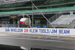 Dan Wheldon's pit box the day after his Indy 500 win