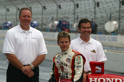Brian Barnhart, Dan Wheldon and Joey Chitwood