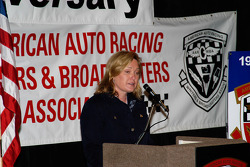 AAWRBA breakfast: Lesa France Kennedy accepts the