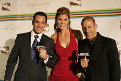 Helio Castroneves, Jamie Little and Tony Kanaan