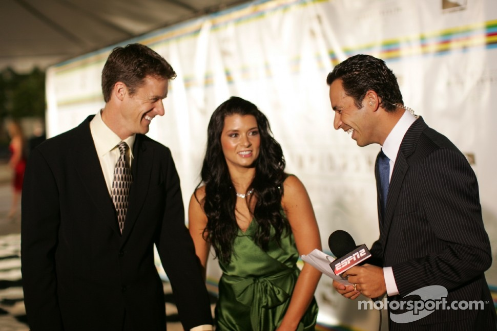 Paul Hospenthal, Danica Patrick and Helio Castroneves