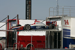 A.J. Foyt Racing paddock area