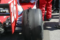 The right rear of Dan Wheldon's winning car