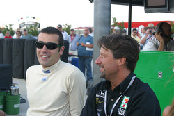 Dario Franchitti and Michael Andretti
