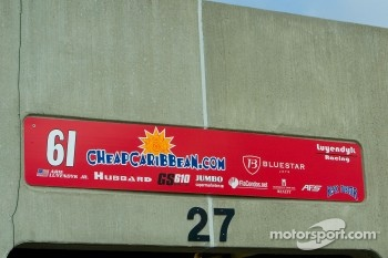 Arie Luyendyk Jr. garage sign