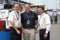 Part of the ABC broadcast team for the Indy 500: Marty Reid, Dr. Jerry Punch and Scott Goodyear