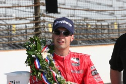 Race winner Sam Hornish Jr. is exhausted after a short night