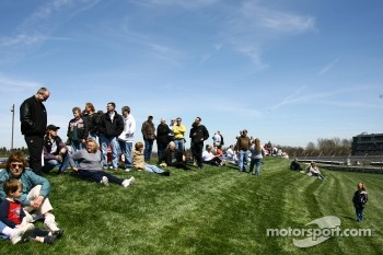 Fans watch testing action