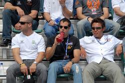 Tony Kanaan, Vitor Meira and Kosuke Matsuura