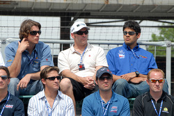 Jeff Bucknum, Larry Foyt, Jaques Lazier, Arie Luyendyk Jr., P.J. Jones and Thiago Medeiros