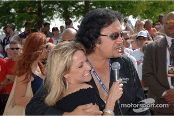 Gene Simmons with Indianapolis Motor Speedway Laura Steele
