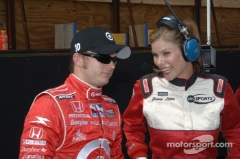 Dan Wheldon and Jamie Little