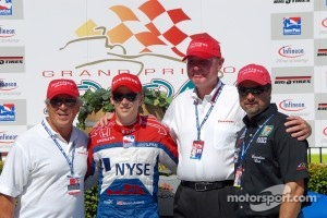 Firestone's Al Speyer with Mario, Marco and Michael Andretti, 2006