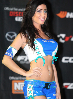 Falken girl on the podium