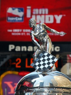 The Borg-Warner Trophy in Times Square