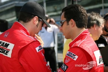 Helio Castroneves and Sam Hornish Jr.