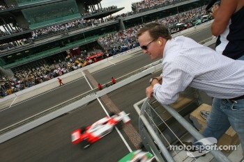 Indianapolis quarterback Peyton Manning watches early race action
