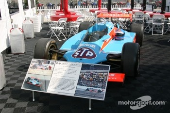 The 1982 winning car of Gordon Johncock on display