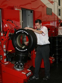 Firestone crew member at work