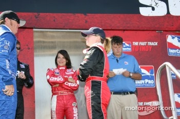 Buddy Rice and Sarah Fisher