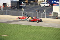 Dan Wheldon in trouble