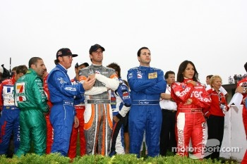 The drivers wait to be introduced