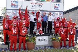 The victory podium