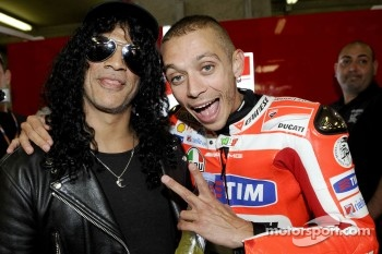 Valentino Rossi and Slash