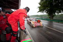 Pit stop for #60 Michael Shank Racing Ford Riley: Oswaldo Negri, John Pew