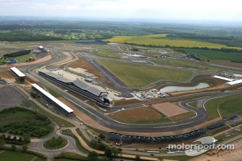 An aerial view of the Silverstone circuit