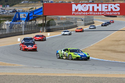 Ferrari Challenge field under control of the pace car