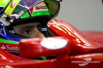 Felipe Massa was fastest in the rain at Silverstone