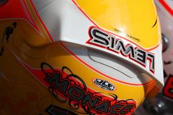 Helmet of Lewis Hamilton, McLaren Mercedes with Steinmetz Diamonds