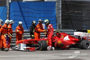 Felipe Massa, Scuderia Ferrari has a crash