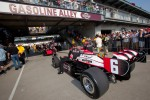 Car of Ryan Briscoe, Team Penske rolled to pitlane