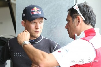 Mattias Ekstrm, Audi Sport Team Abt Sportsline Audi A4 DTM and Hans-Jrgen Abt, Team principal Audi Team Abt Sportsline