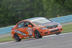 #77 Compass360 Racing Honda Civic SI: Andrew Novich, Bret Sandberg