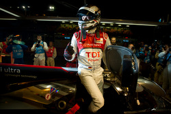 André Lotterer gets out of the car to celebrate the pole